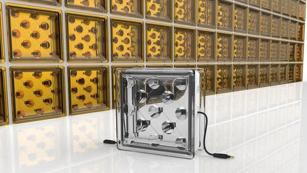 骇科技丨新型玻璃砖可能是太阳能发电的全新选择