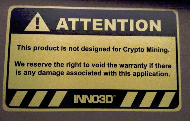 骇科技丨矿主们注意了,用游戏显卡挖矿将会被拒绝保修