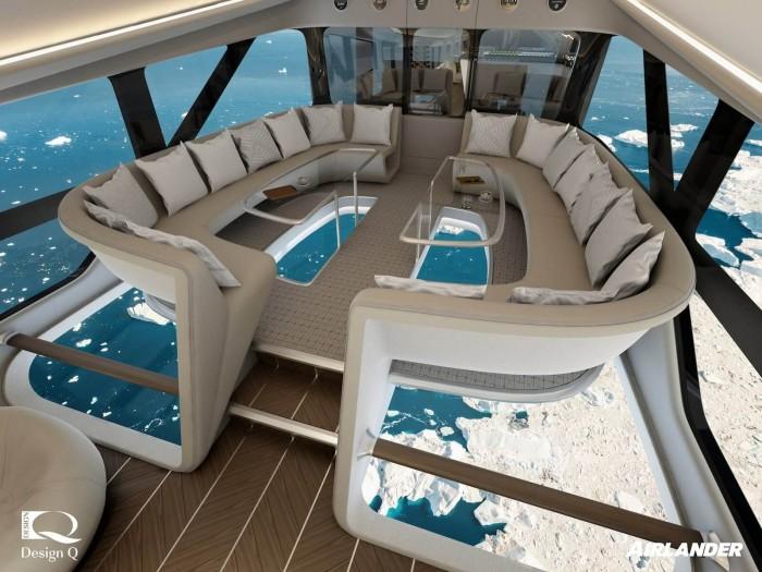 世界上最大的飞机将提供玻璃地板机舱提供豪华飞行之旅